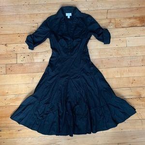 Ann Taylor Loft black buttoned dress, size 0